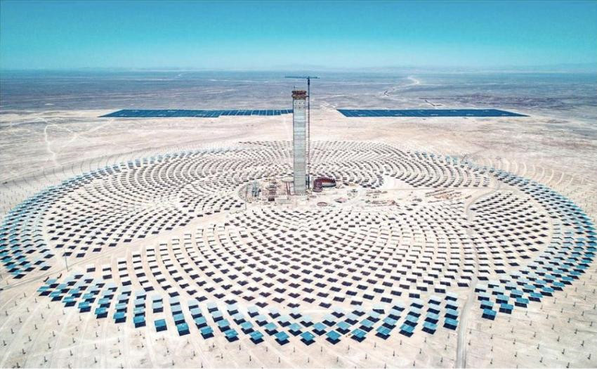First Concentrated Solar Power plant in Chile and Latin America completes 80% progress