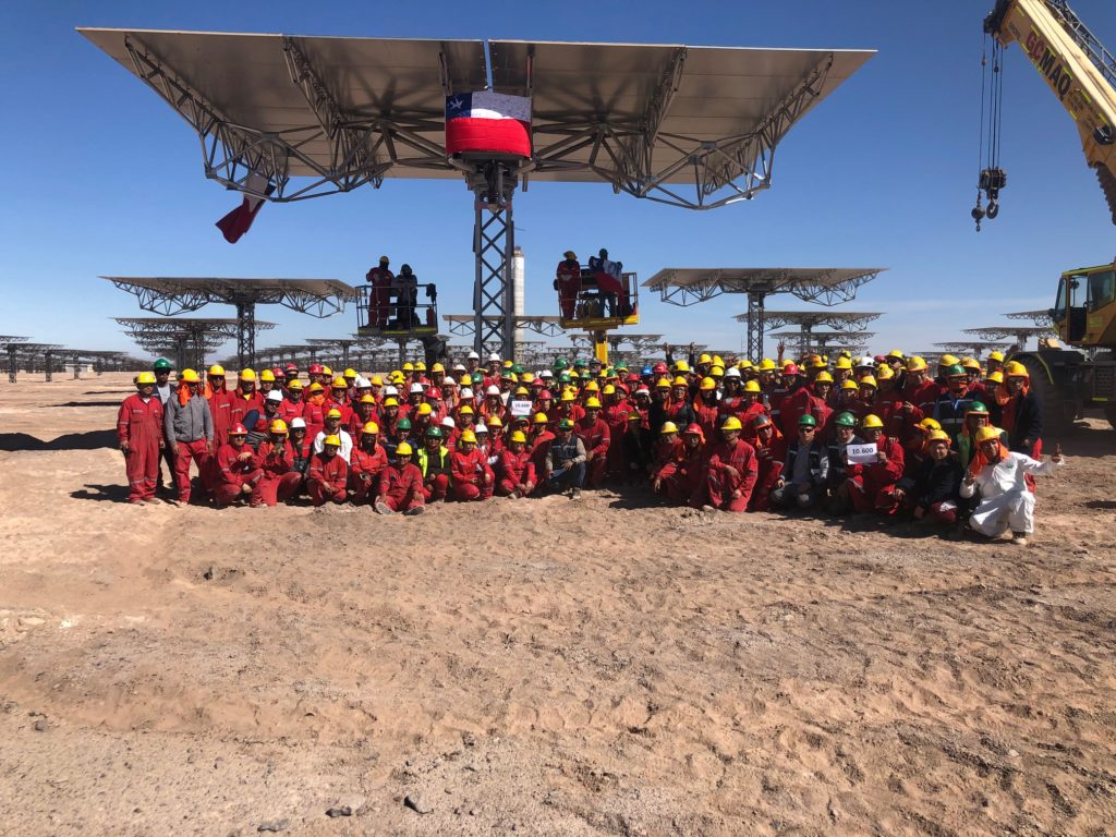 The Cerro Dominador Concentrated Solar Power  in Chile completes 85%